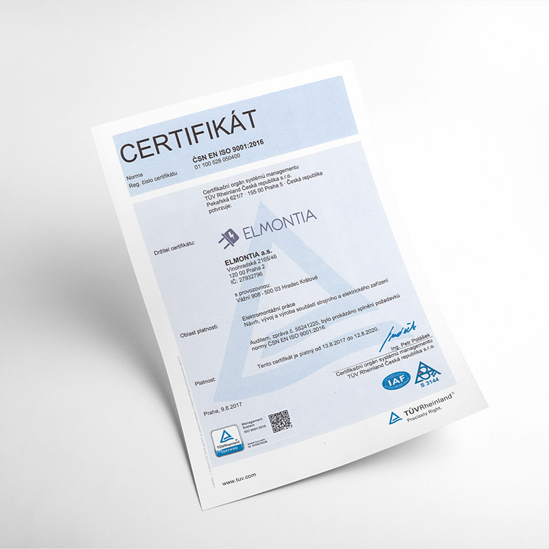 Proudly holding ISO 9001 from TÜV Rheinland.